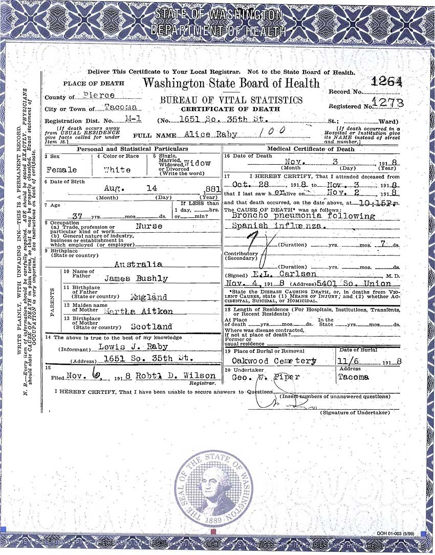 Documents death certificate alice bushby raby washington documents death certificate alice bushby raby washington state board of health craig and marjorie walsh geneology website 1betcityfo Choice Image